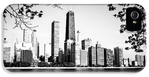 John Hancock Building iPhone 5 Cases - Chicago Skyline Black and White Picture iPhone 5 Case by Paul Velgos