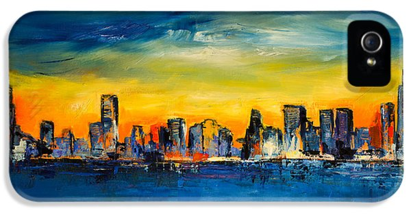 Build iPhone 5 Cases - Chicago Skyline iPhone 5 Case by Elise Palmigiani
