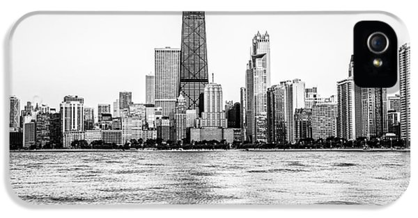 John Hancock Building iPhone 5 Cases - Chicago Skyline Hancock Building Black and White Photo iPhone 5 Case by Paul Velgos
