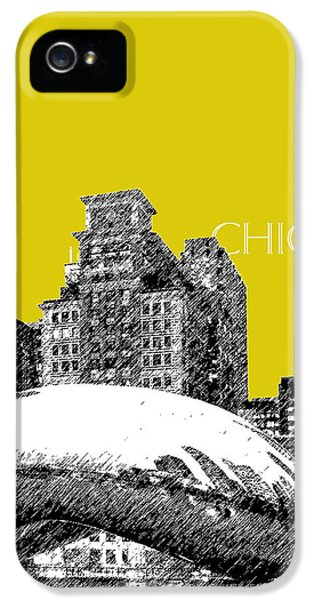 Cloud Gate iPhone 5 Cases - Chicago The Bean - Mustard iPhone 5 Case by DB Artist
