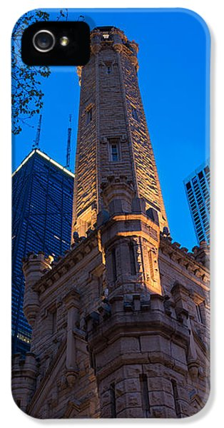 Aves iPhone 5 Cases - Chicago Water Tower Panorama iPhone 5 Case by Steve Gadomski