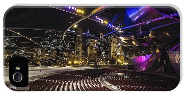 Michgan Avenue iPhone 5 Cases - Chicagos Pritzker Pavillion with colored lights  iPhone 5 Case by Sven Brogren