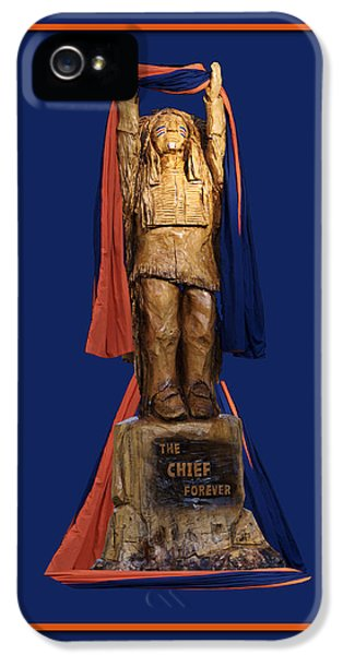 Central Il iPhone 5 Cases - Chief Illiniwek University of Illinois 05 iPhone 5 Case by Thomas Woolworth