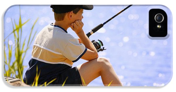Boys Only iPhone 5 Cases - Child Fishing iPhone 5 Case by Don Hammond