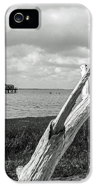 House Md Art iPhone 5 Cases - Chincoteague Oystershack BW Vertical iPhone 5 Case by Photographic Arts And Design Studio