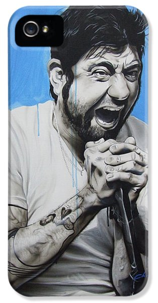 Famous People iPhone 5 Cases - Chino Moreno iPhone 5 Case by Christian Chapman Art