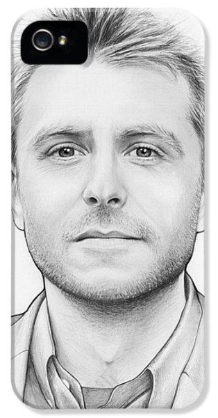 Pencil Drawing iPhone 5 Cases - Chris Hardwick iPhone 5 Case by Olga Shvartsur