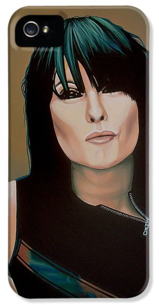 Festival iPhone 5 Cases - Chrissie Hynde iPhone 5 Case by Paul  Meijering