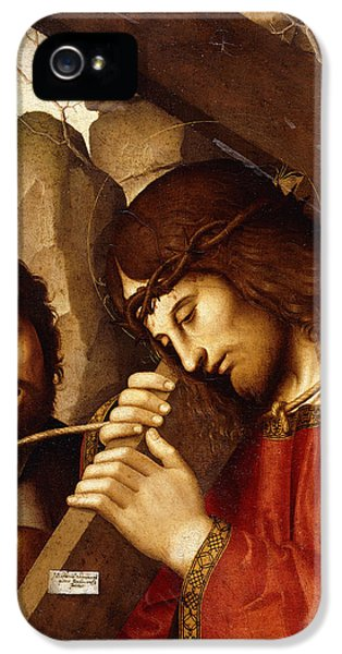 Son Of God iPhone 5 Cases - Christ Carrying the Cross iPhone 5 Case by Marco Palmezzano