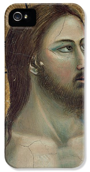 Baptism iPhone 5 Cases - Christ iPhone 5 Case by Giotto di Bondone