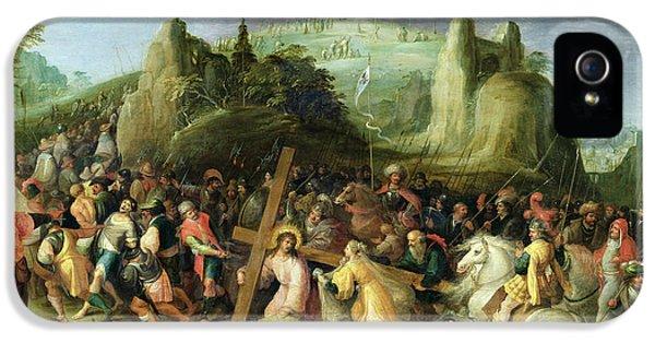 Son Of God iPhone 5 Cases - Christ on the Road to Calvary iPhone 5 Case by Frans II the Younger Francken