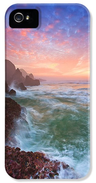 Oregon Coast iPhone 5 Cases - Christmas Eve Sunset iPhone 5 Case by Darren  White