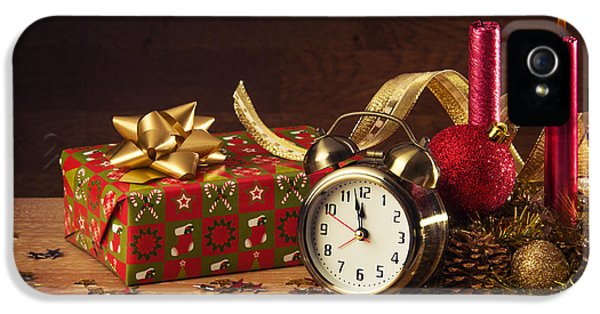 Clock iPhone 5 Cases - Christmas Still-life iPhone 5 Case by Carlos Caetano