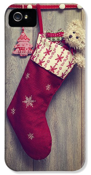 Stockings iPhone 5 Cases - Christmas Stocking iPhone 5 Case by Amanda And Christopher Elwell