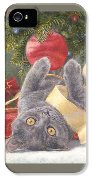 Indoors iPhone 5 Cases - Christmas Surprise iPhone 5 Case by Lucie Bilodeau