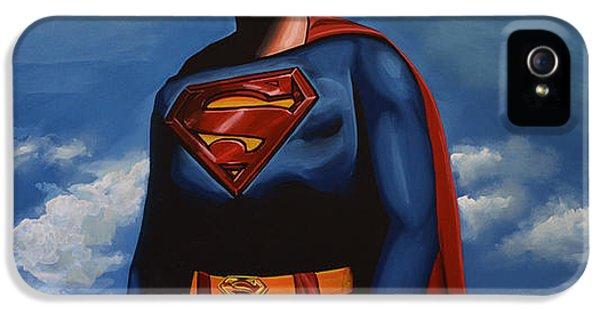 Steel iPhone 5 Cases - Christopher Reeve as Superman iPhone 5 Case by Paul  Meijering