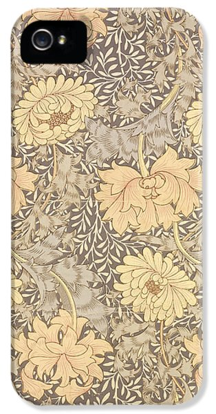 Arts And Crafts Movement iPhone 5 Cases - Chrysanthemum iPhone 5 Case by William Morris