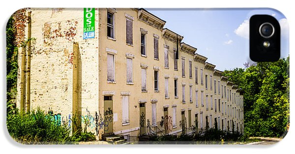 Condition iPhone 5 Cases - Cincinnati Glencoe-Auburn Row Houses Picture iPhone 5 Case by Paul Velgos