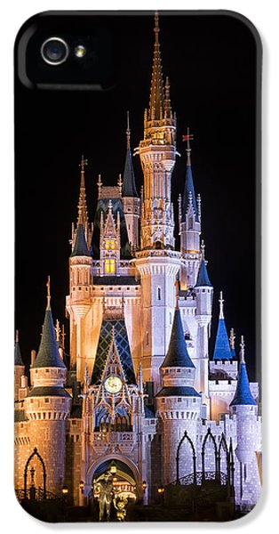 Castle iPhone 5 Cases - Cinderellas Castle in Magic Kingdom iPhone 5 Case by Adam Romanowicz