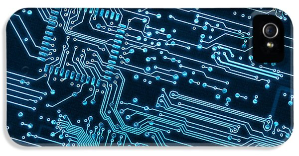 Communication iPhone 5 Cases - Circuit Board iPhone 5 Case by Carlos Caetano