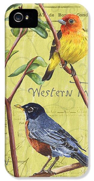 Songbird iPhone 5 Cases - Citron Songbirds 2 iPhone 5 Case by Debbie DeWitt