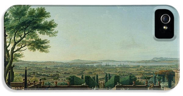 Harbour iPhone 5 Cases - City And Port Of Toulon, 1756 Oil On Canvas iPhone 5 Case by Claude Joseph Vernet
