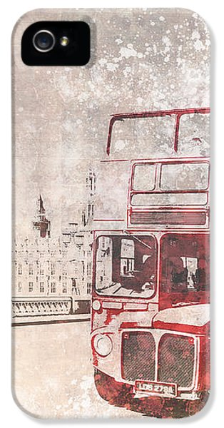 City-art London Red Buses II IPhone 5 / 5s Case by Melanie Viola