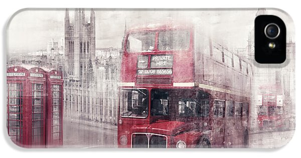 Capital iPhone 5 Cases - City-Art LONDON Westminster Collage II iPhone 5 Case by Melanie Viola