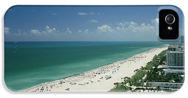 Build iPhone 5 Cases - City At The Beachfront, South Beach iPhone 5 Case by Panoramic Images