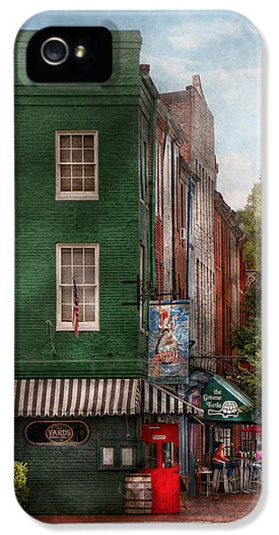 Store Front iPhone 5 Cases - City - Baltimore - Fells Point MD - Berthas and The Greene Turtle  iPhone 5 Case by Mike Savad