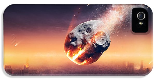 Apocalypse iPhone 5 Cases - City destroyed by meteor shower iPhone 5 Case by Johan Swanepoel