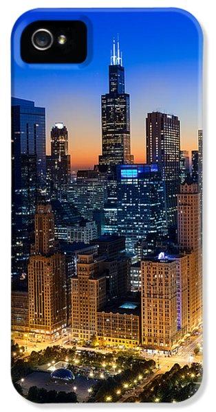 Cloud Gate iPhone 5 Cases - City Light Chicago iPhone 5 Case by Steve Gadomski