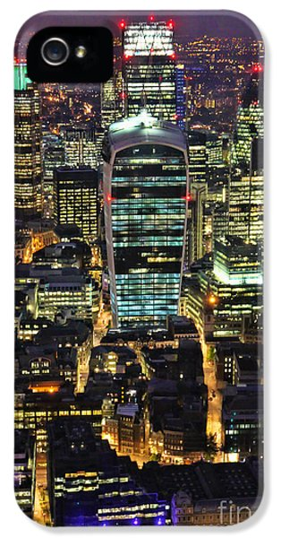 20 iPhone 5 Cases - City of London Skyline at Night iPhone 5 Case by Jasna Buncic