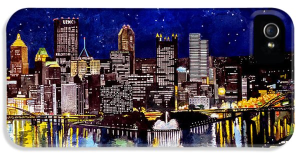 City Of Pittsburgh At The Point IPhone 5 / 5s Case by Christopher Shellhammer