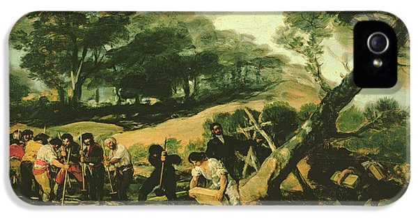 Fabrication iPhone 5 Cases - Clandestine Manufacture Of Gunpowder, 1812-13 Oil On Canvas iPhone 5 Case by Francisco Jose de Goya y Lucientes