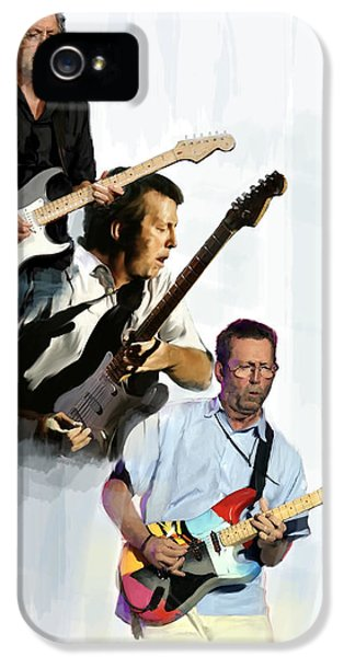 Clapton Eric Clapton IPhone 5 / 5s Case by Iconic Images Art Gallery David Pucciarelli