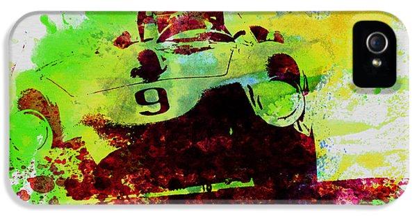 Italian Classic Car iPhone 5 Cases - Classic Ferrari on Race track iPhone 5 Case by Naxart Studio