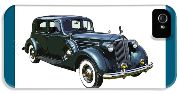 Glamorous iPhone 5 Cases - Classic Green Packard Luxury Automobile iPhone 5 Case by Keith Webber Jr
