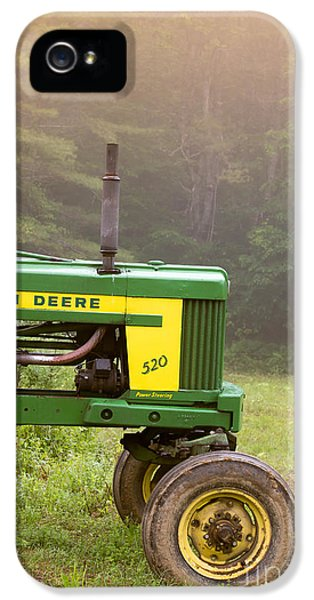 Tractor iPhone 5 Cases - Classic John Deere 520 Tractor iPhone 5 Case by Edward Fielding