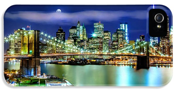 Hudson River iPhone 5 Cases - Classic New York Skyline iPhone 5 Case by Az Jackson