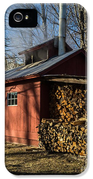 Shack iPhone 5 Cases - Classic Vermont Maple Sugar Shack iPhone 5 Case by Edward Fielding
