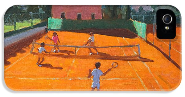 Net iPhone 5 Cases - Clay Court Tennis iPhone 5 Case by Andrew Macara