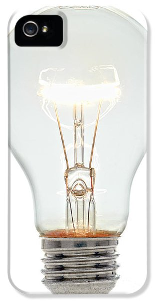 Filament (lightbulb) iPhone 5 Cases - Clear Light Bulb iPhone 5 Case by Olivier Le Queinec