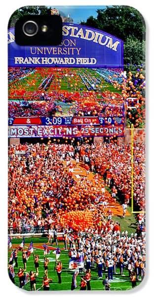 Deandre iPhone 5 Cases - Clemson Football Iphone Galaxy Cover iPhone 5 Case by Jeff McJunkin