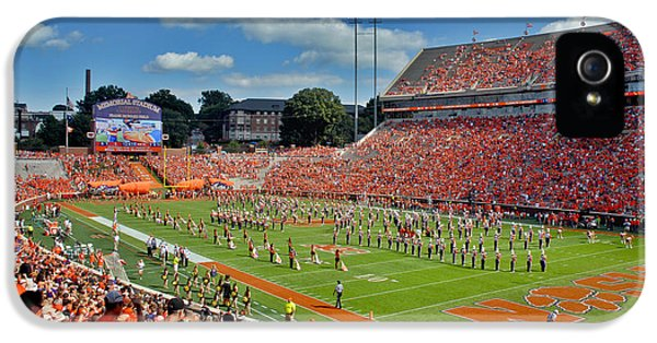 Deandre iPhone 5 Cases - Clemson Tiger Band Memorial Stadium iPhone 5 Case by Jeff McJunkin