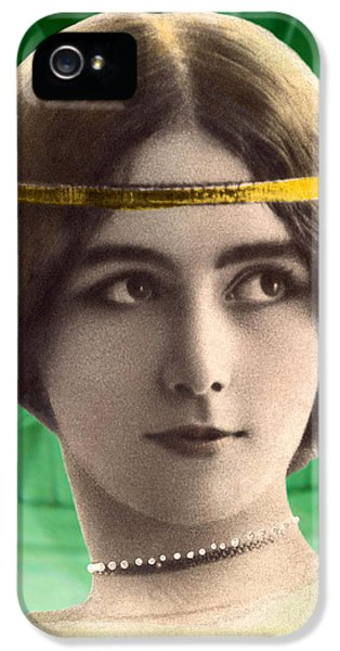 Fin De Siecle iPhone 5 Cases - Cleo de Merode as Cleo dEmeraude iPhone 5 Case by Rodger Insh