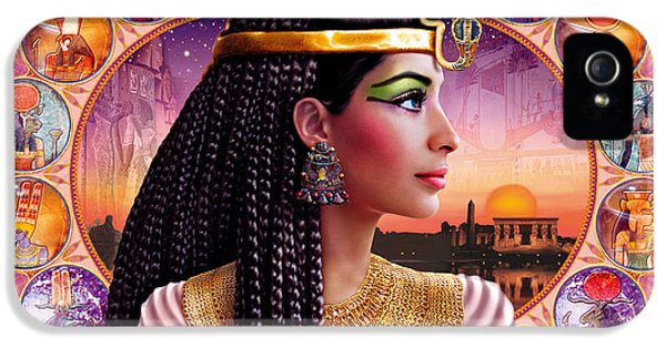 Puzzles iPhone 5 Cases - Cleopatra Variant 3 iPhone 5 Case by Andrew Farley