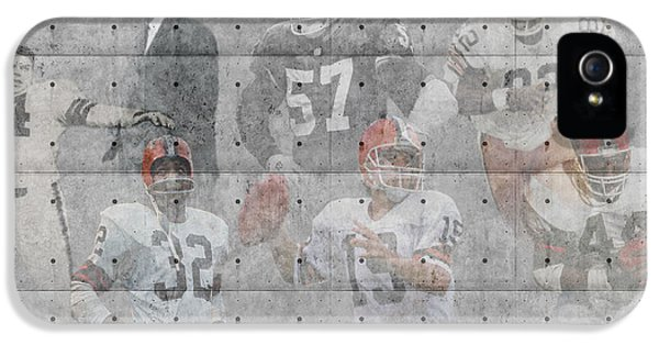 Padded iPhone 5 Cases - Cleveland Browns Legends iPhone 5 Case by Joe Hamilton
