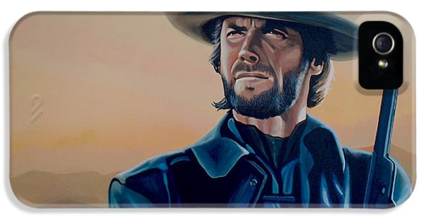 Dirty iPhone 5 Cases - Clint Eastwood  iPhone 5 Case by Paul  Meijering