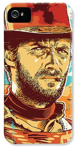 Dirty iPhone 5 Cases - Clint Eastwood Pop Art iPhone 5 Case by Jim Zahniser